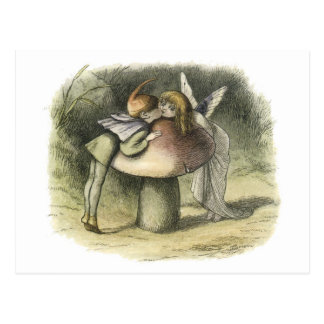 Fairy Kiss In Fairyland 1870 Postcard