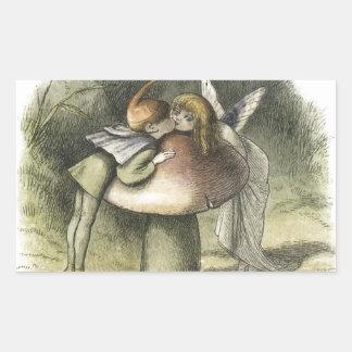 Fairy Kiss In Fairyland 1870 Rectangular Sticker