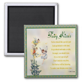 Fairy Kisses 2 Inch Square Magnet
