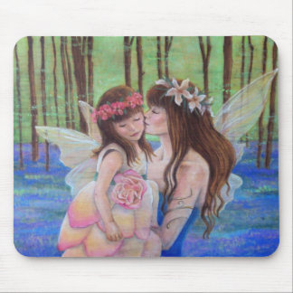Fairy Kisses Mother and Daughter Mousepad