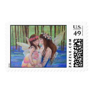 Fairy Kisses Mother and Daughter Postage