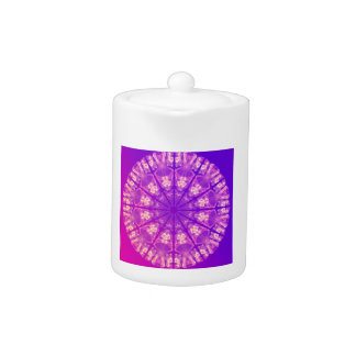 Fairy Lace Mandala Delicate Abstract Cream Violet