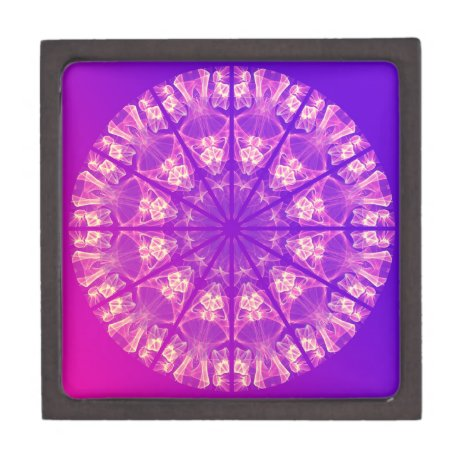 Fairy Lace Mandala Delicate Abstract Cream Violet Gift Box