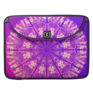 Fairy Lace Mandala Delicate Abstract Cream Violet MacBook Pro Sleeves