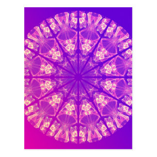 Fairy Lace Mandala Delicate Abstract Cream Violet Post Card