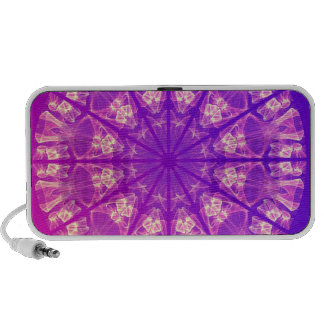 Fairy Lace Mandala Delicate Abstract Cream Violet Mini Speakers