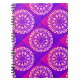 Fairy Lace Mandala Delicate Abstract Cream Violet Spiral Note Books