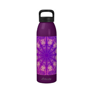 Fairy Lace Mandala Delicate Abstract Cream Violet Reusable Water Bottle