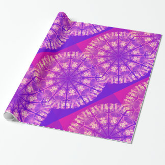 Fairy Lace Mandala Delicate Abstract Cream Violet Gift Wrap