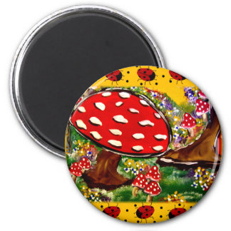 Fairy Lady Bugs 2 Inch Round Magnet