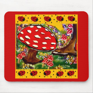 Fairy Lady Bugs Mouse Pad