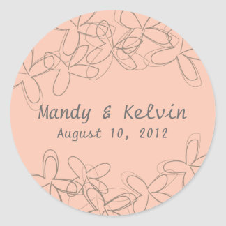Fairy Lady Wedding Stickers, Bridal Shower Labels