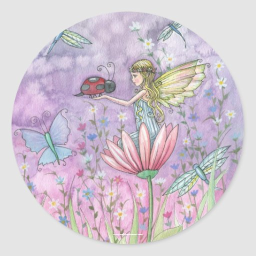 Fairy Ladybug Stickers by Molly Harrison