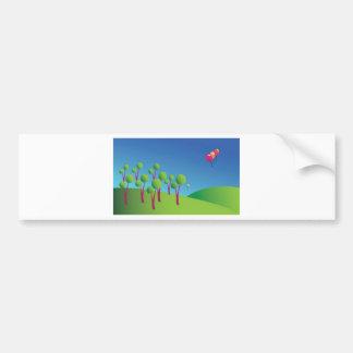 Fairy landscape bumper stickers
