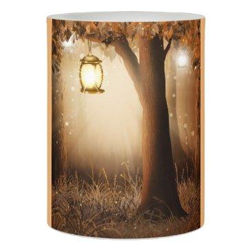 Fairy lantern in Tree Autumn scene Flameless Candle