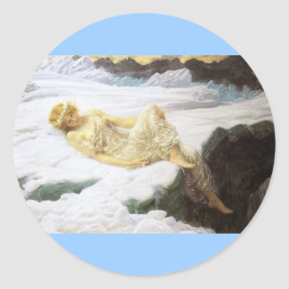 Fairy Laying in the Snow Classic Round Sticker