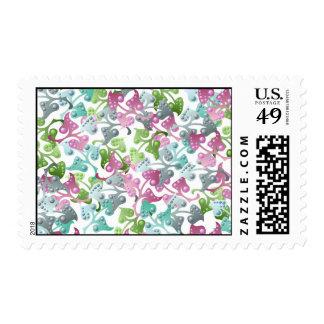 Fairy Leaf Pattern Postage Stamp