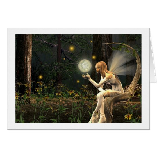 fairy light Ball Note Cards