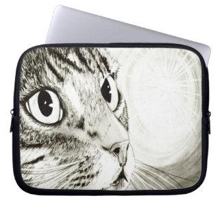 Fairy Light Tabby Cat Fantasy Art Laptop Sleeve