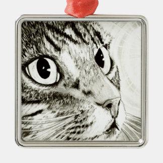 Fairy Light Tabby Cat Fantasy Art Ornament