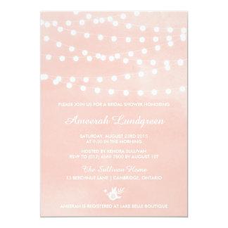 Fairy Lights Blush Bridal Shower Invitation