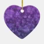 Fairy Lights II Double-Sided Heart Ceramic Christmas Ornament