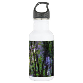 Fairy Lights Surreal Forest Water Bottle