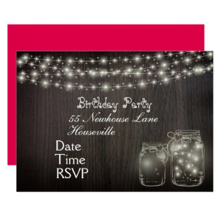 Fairy Lights teenage girl Party Card