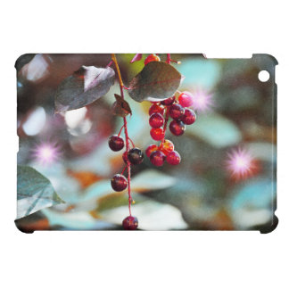Fairy Lights with Cherries - Watercolor Style iPad Mini Covers
