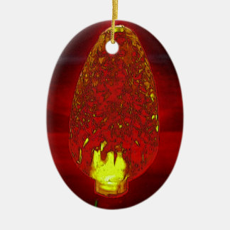 Fairy lite ceramic ornament