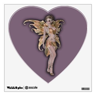 Fairy magic faerie in a gold fairy costume wall graphics