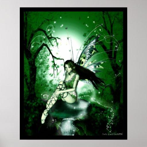 Fairy Magic Green Poster