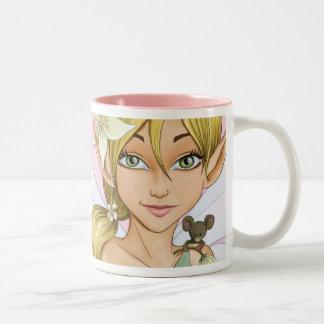 Fairy Magic in a cup Two-Tone Coffee Mug