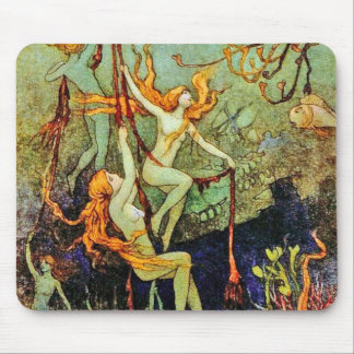 Fairy Mermaids - by Warwick Goble Mouse Pad