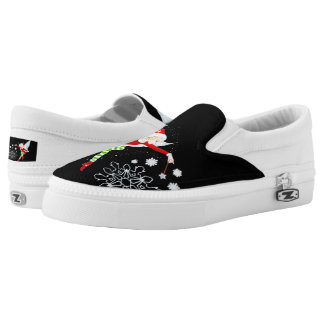 Fairy Merry Christmas Custom Zipz Slip On Shoes