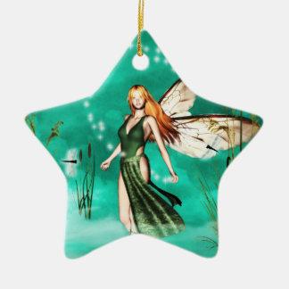 fairy mist orniment Double-Sided star ceramic christmas ornament