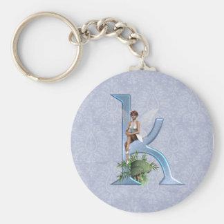 Fairy Monogram K Keychains