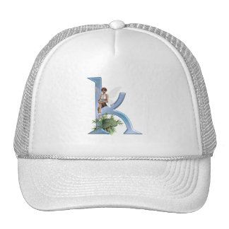 Fairy Monogram K Trucker Hat