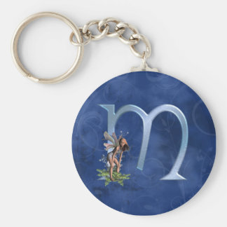Fairy Monogram M Keychain