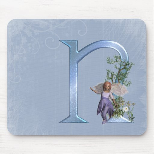 Fairy Monogram N Mouse Mat