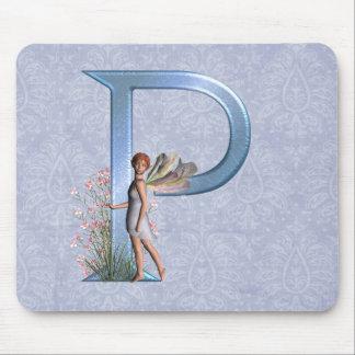 Fairy Monogram P Mouse Pad