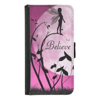 Fairy moon Believe iphone or Galaxy S5 Wallet case