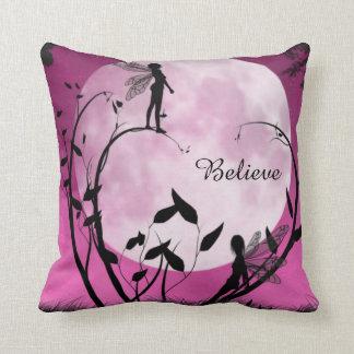fairy moon believe pillow