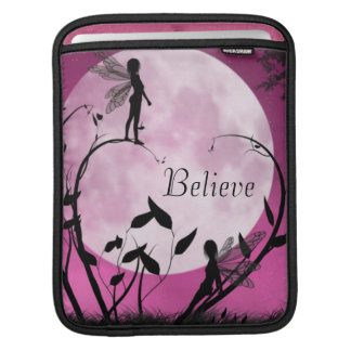 Fairy moon light Believe iPad sleeve