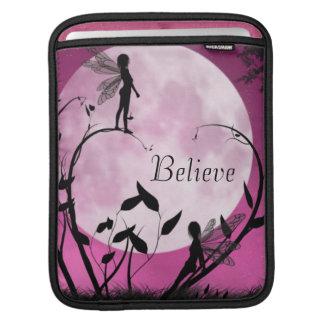 Fairy moon light Believe iPad sleeve