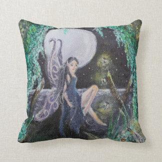 Fairy Moon. Moon foretells Throw Pillow