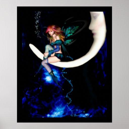Fairy Moon Poster