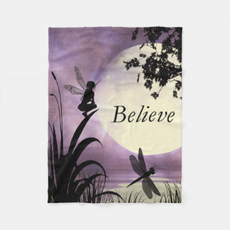 Fairy moonlight Believe fleece blanket