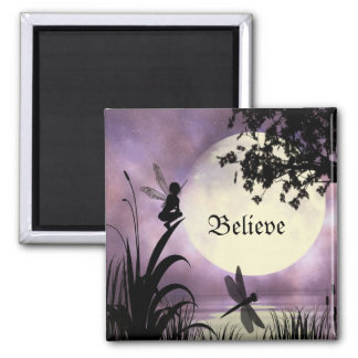 Fairy moonlit pond Magnet