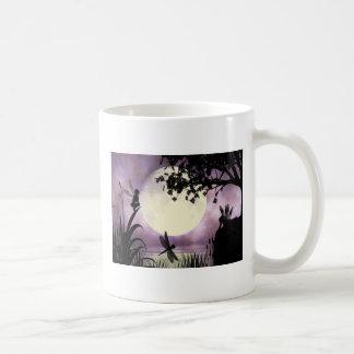 Fairy moonlit pond mug